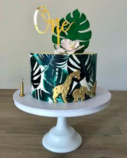 Monstera Leaf Cake