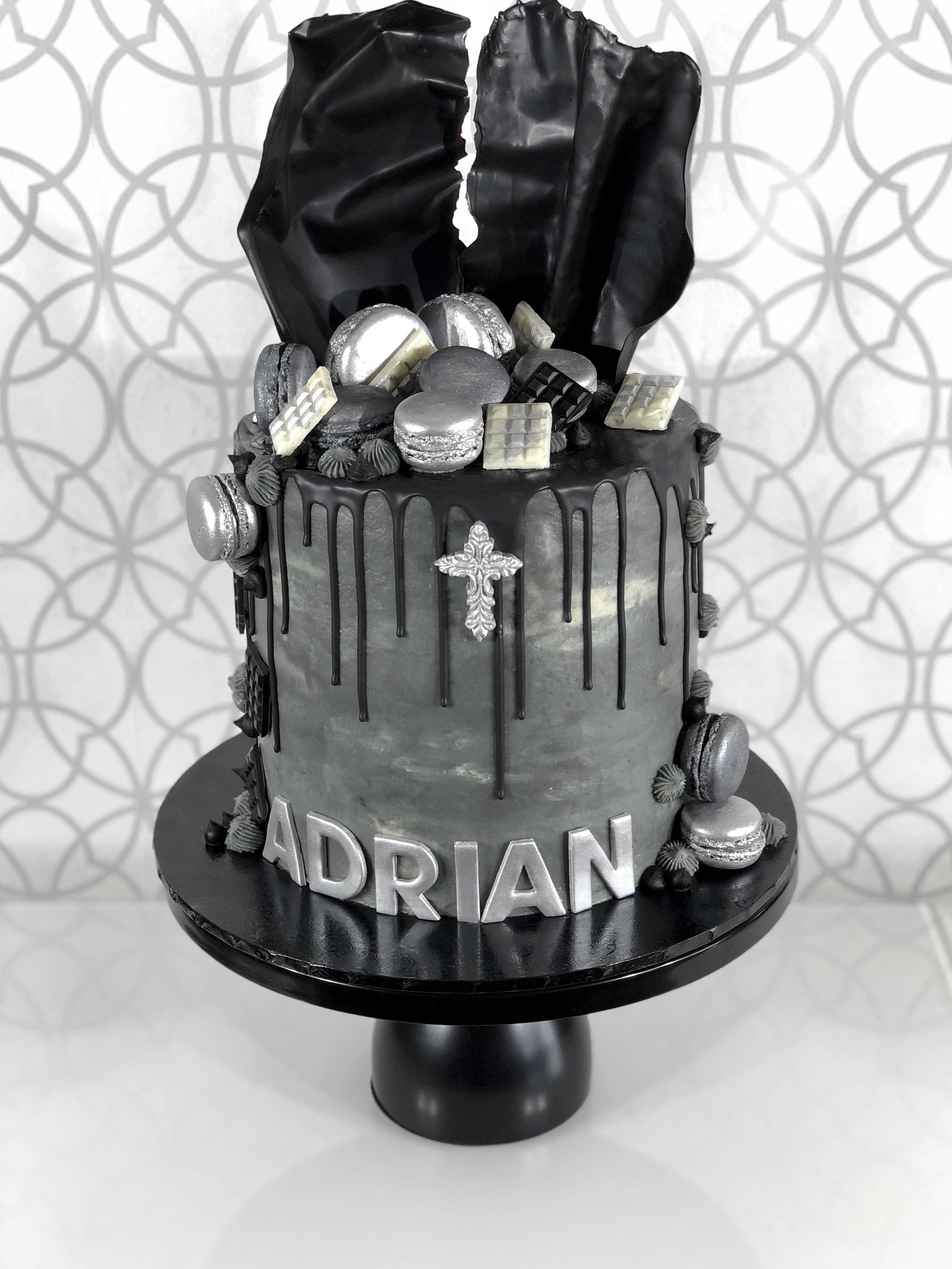 Black Drip Cake