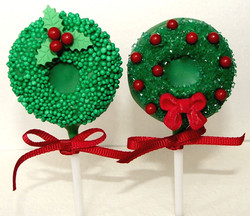 Christmas Wreath Cake Pops