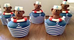 Nautical Teddy Cupcakes