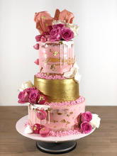 Pink & Gold 3 Tier Cake