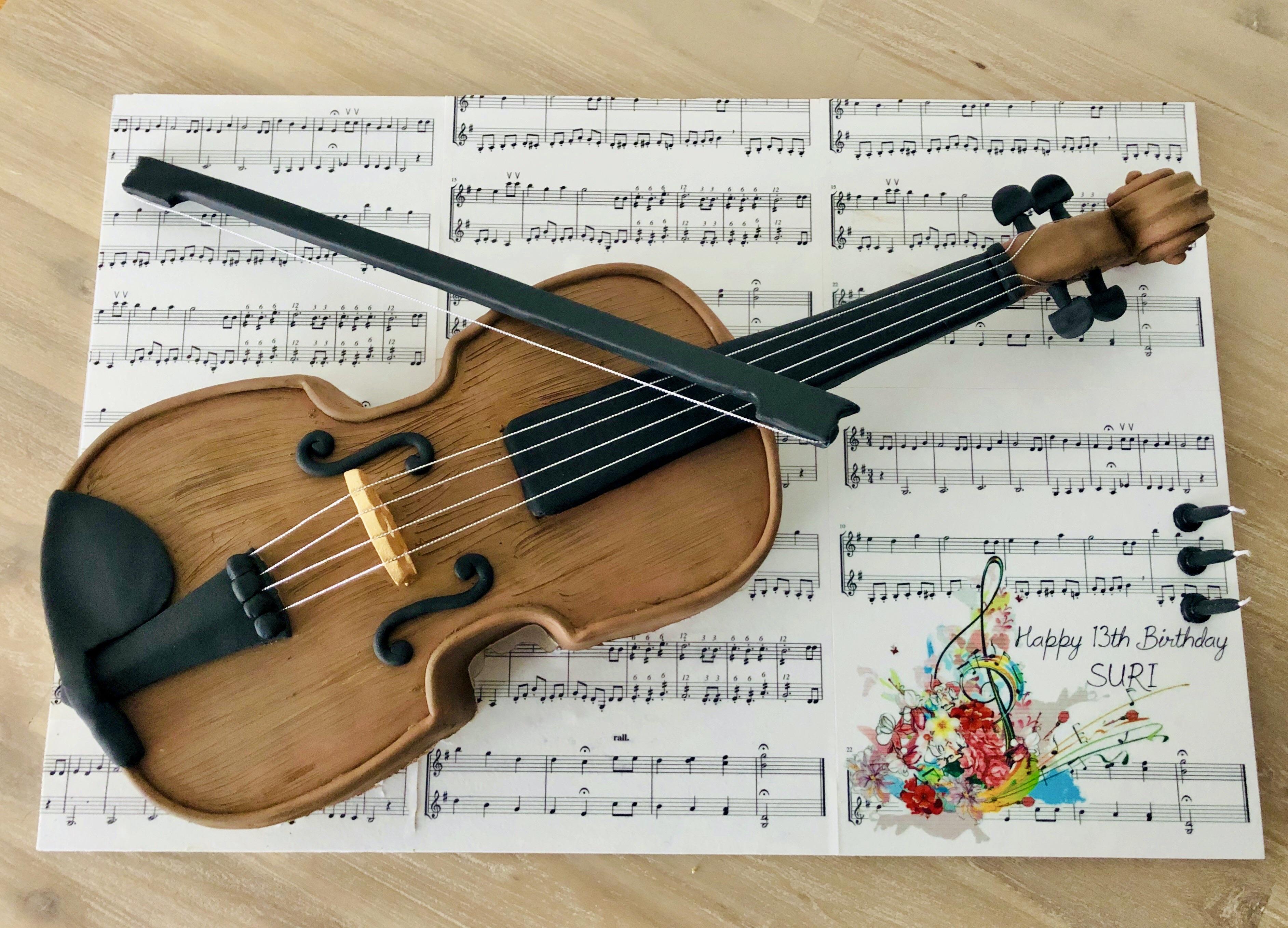 Violin 3D Cake.
