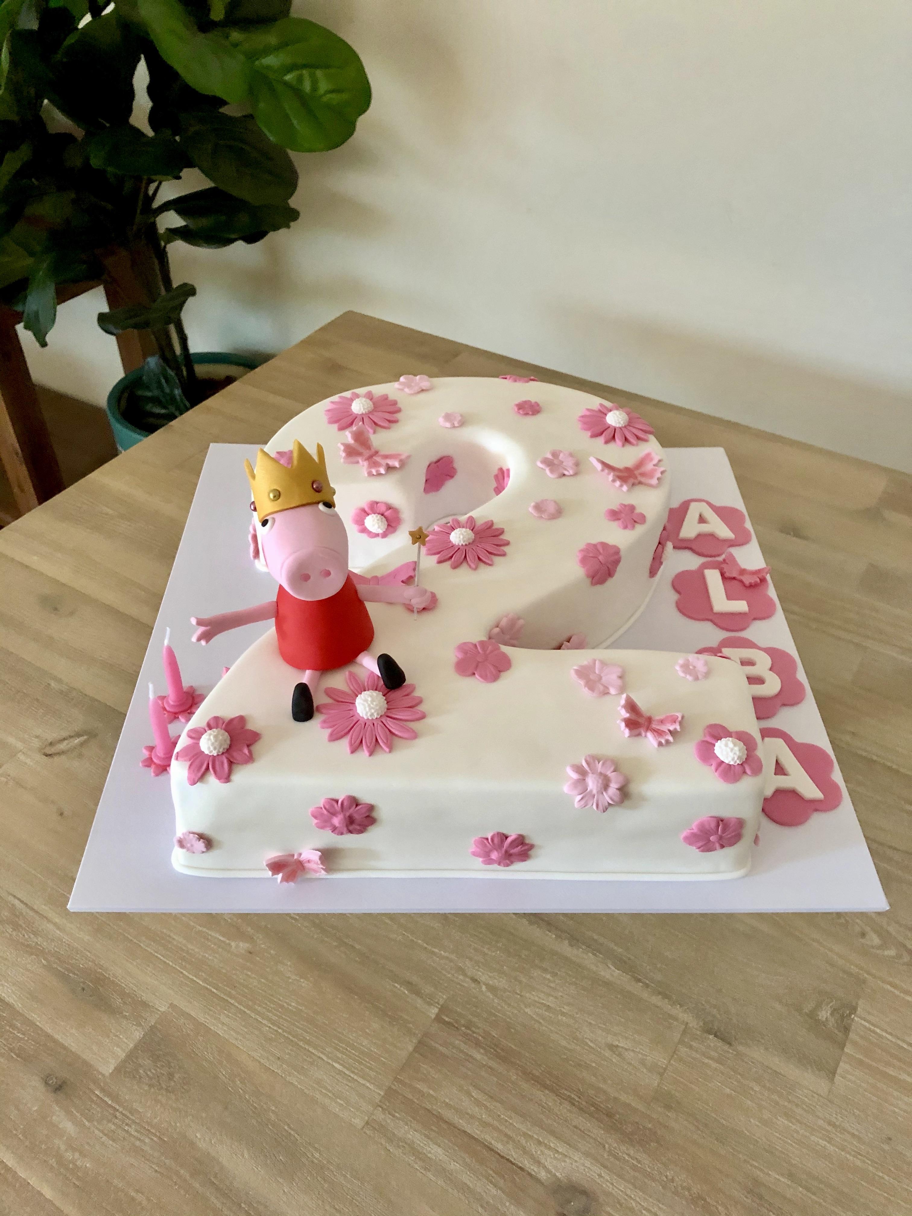 Peppa Pig Number Cake