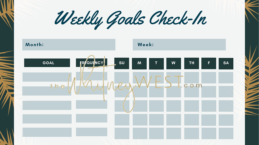 Goal Check-In Sheets