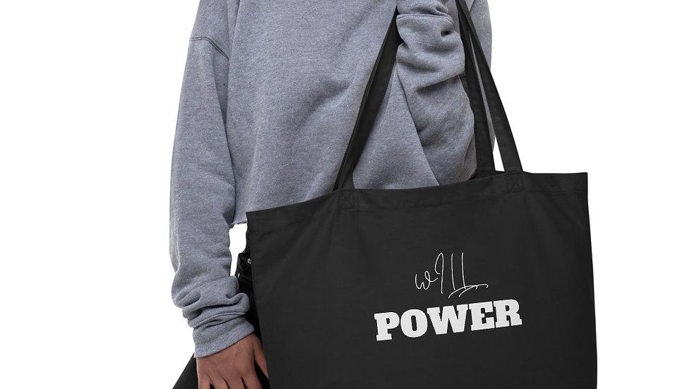 wILL Power organic tote bag