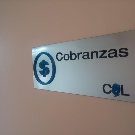 Placa Cobranzas