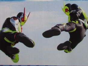 Zero-One REAL×TIME New Scans: Zero-One & Zero-Two Perform Double Rider Kick