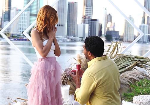 Brisbane Man on one knee proposing to his partner