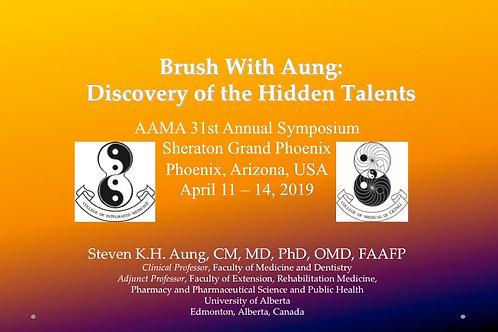 2019 AAMA Breakout #01: Steven H Aung, MD, OMD, PhD