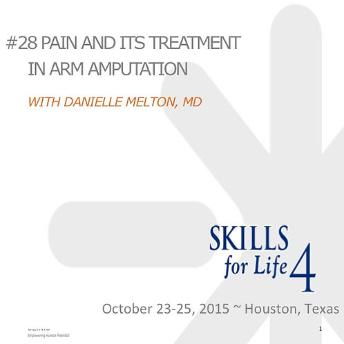2015 SFL4 #28: Pain and its Treatment in Arm Amputation