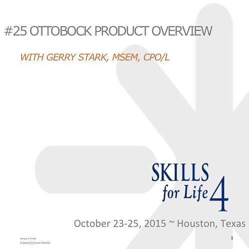 2015 SFL5 #25: Ottobock Product Overview