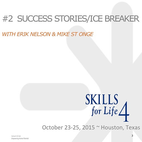 2015 SFL4 #2: Success Stories / Ice Breaker