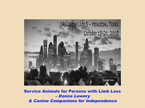 2018 SFL5 #38: Service Animals for Persons with Limb Loss
