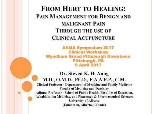 2017 AAMA Breakout #11: Steven K H Aung, MD, OMD, PhD