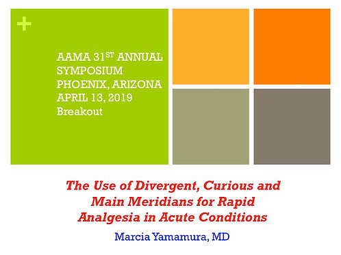 2019 AAMA Breakout #08: Marcia Yamamura, MD