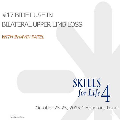 2015 SFL4 #17: Bidet Use in Bilateral Upper Limb Loss