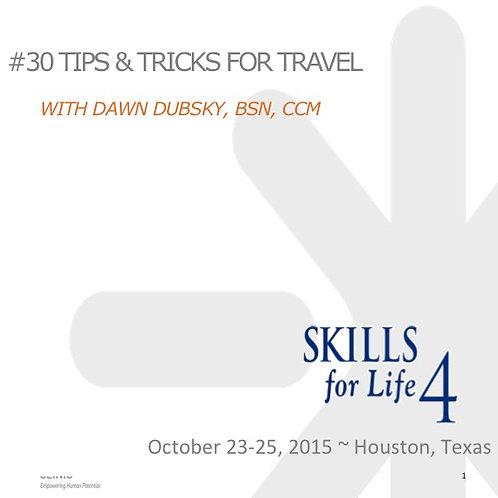 2015 SFL4 #30: Tips & Tricks for Travel