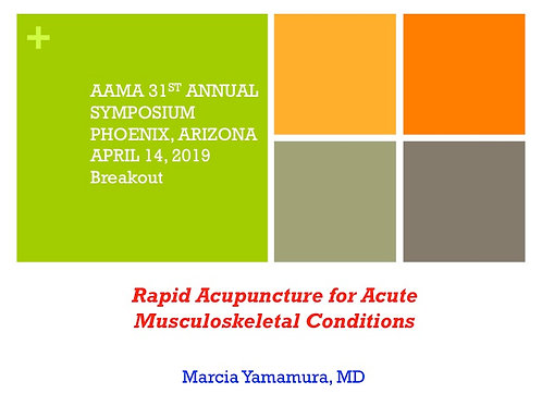 2019 AAMA Breakout #09: Marcia Yamamura, MD