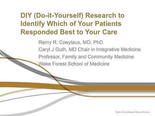 2017 AAMA Breakout #02: Remy Coeytaux, MD, PhD