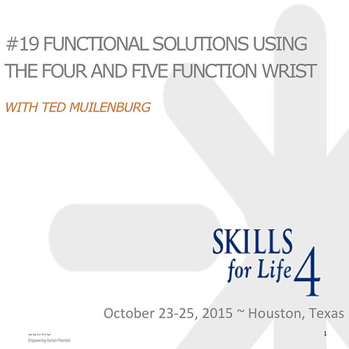 2015 SFL4 #19: Functional Solutions Using the Four and Five Function Wrist