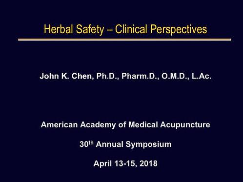 2018 AAMA Breakout #03: John Chen, PhD, LAc