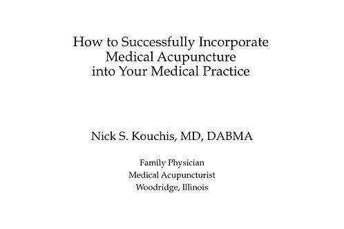 2019 AAMA Workshop #04: Nick Kouchis, MD, DABMA