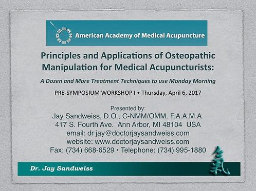 2016 AAMA Workshop #01: Joseph Audette, MA, MD