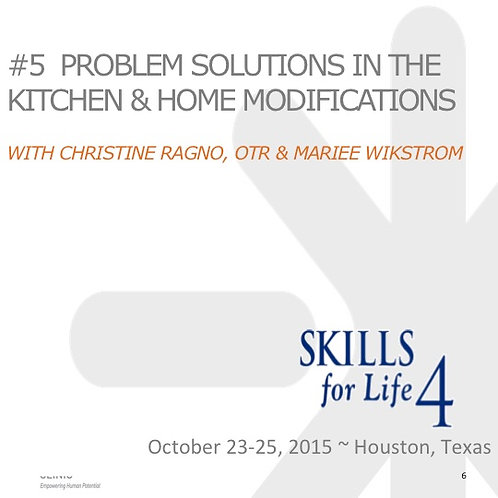 2015 SFL4 #5: Problem Solutions in the Kitchen and Home Modifications