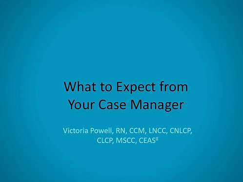 2018 SFL5 #01: What to Expect from your Case Manager