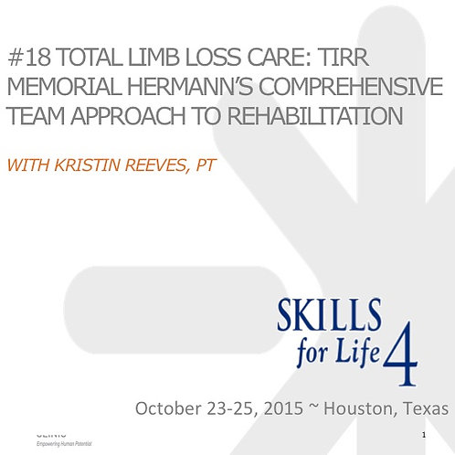 2015 SFL4 #18: Total Limb Loss Care