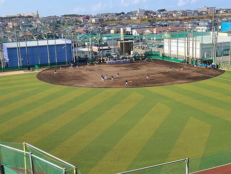 日本文理高校 人工芝野球場 NBP完成。