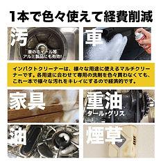 インパクトクリーナー 油汚れ洗剤 脱脂処理