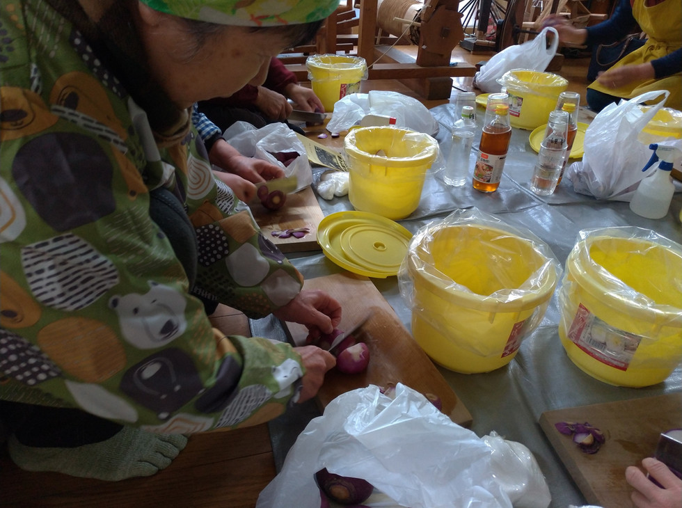 新潟 山北 赤かぶ 味噌づくり 体験