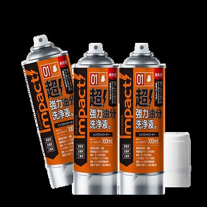 【送料無料】インパクトクリーナー ムースタイプ 300ml 3缶セット [1001_03]