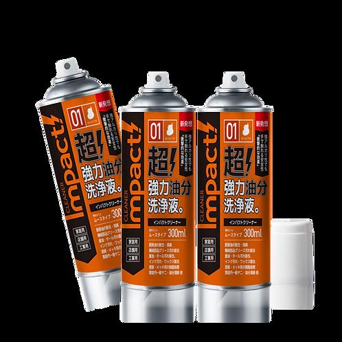 【送料無料】インパクトクリーナー ムースタイプ 300ml 3缶セット