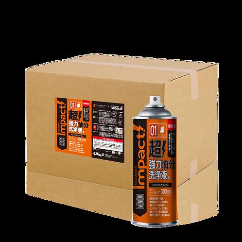 IMPACTクリーナー | ムースタイプ300ml×24〈業務・家庭用〉新発想 油汚れ洗剤
