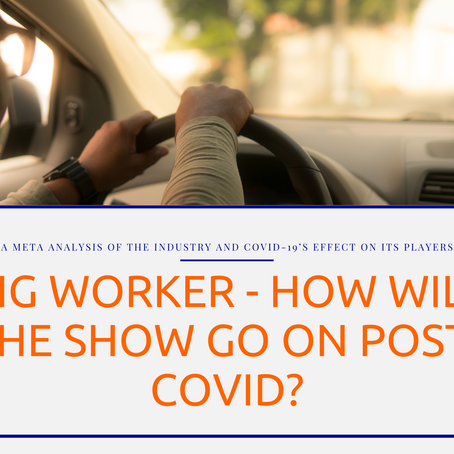 Gig Worker - How Will the Show go on Post-Covid?