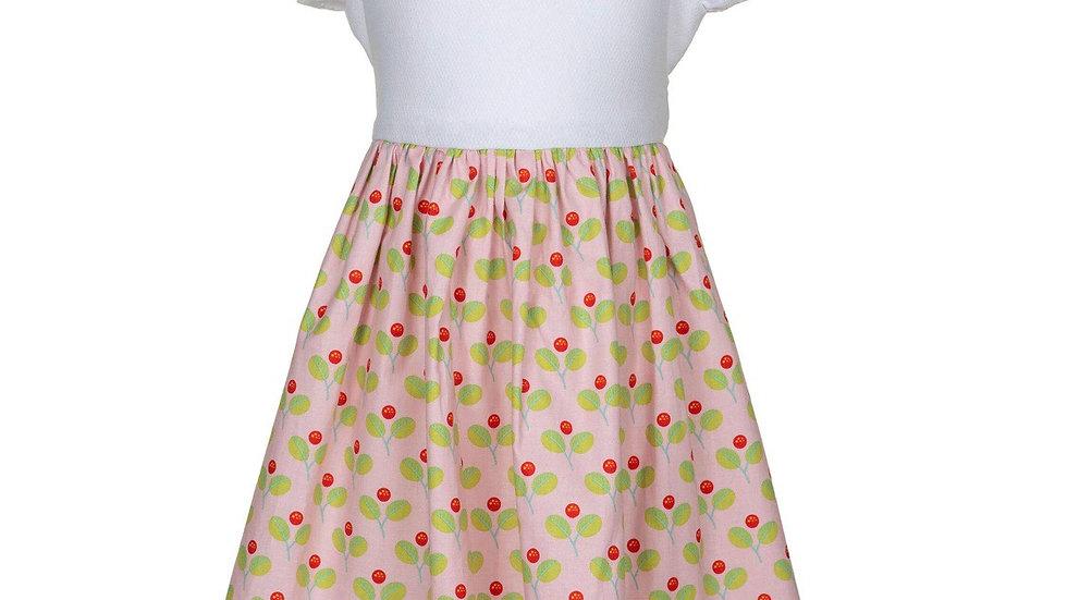Cherries in bloom girls dress