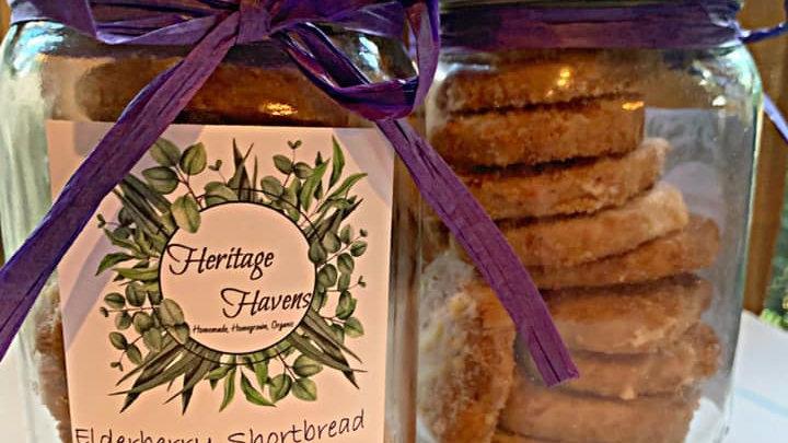 Elderberry Shortbread Cookies
