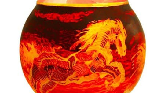 Fire Horse Salt Lamp Diffuser With Dimmer Cord