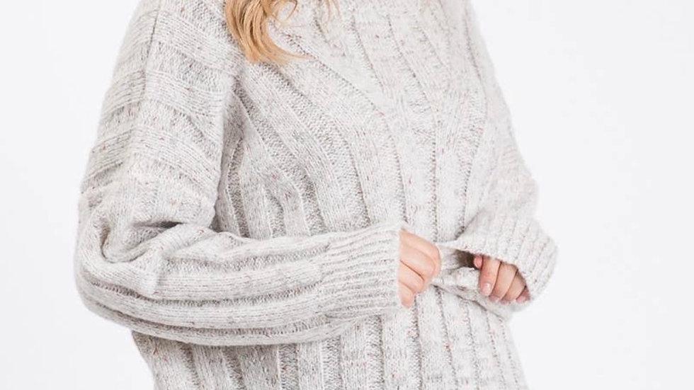 Turtleneck knit sweater