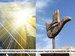 Chandigarh Administration eyes for 75MWp of solar power target to be achieved by 15th August, 2023