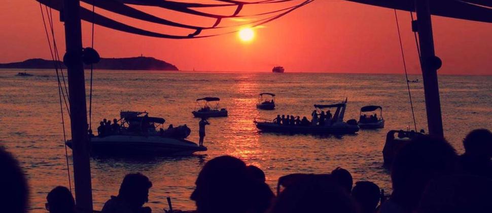 sunset catamara family boat trip ibiza