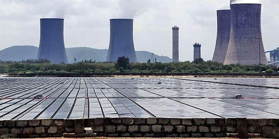 25 MW Floating Solar Plant NTPC Simhadri Visakhapatnam