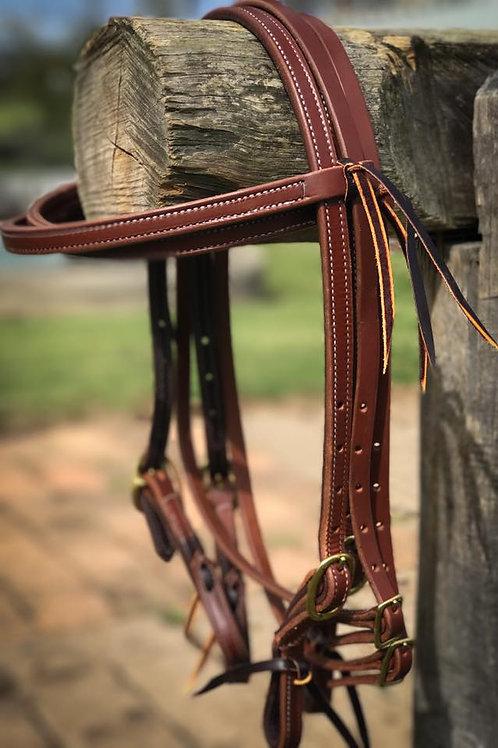 Hermann Oak Double Stitch Browband Headstalls