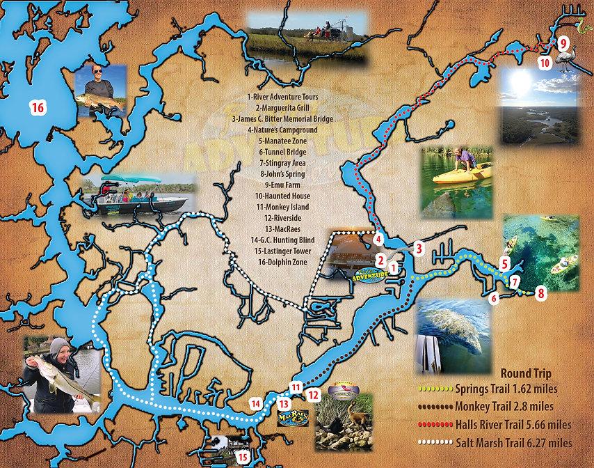 Homosassa River Map and Kayak Trails