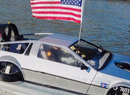 WATCH: Check out this DeLorean Airboat!!