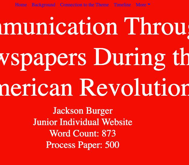 Jr. Ind. Website Burger