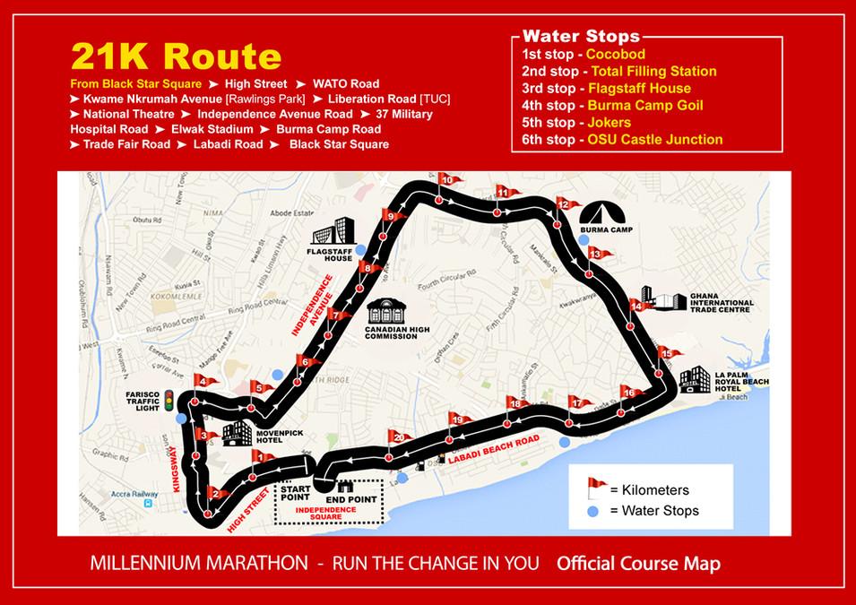 21k Race Route