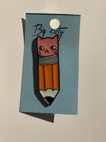 Pencil Cat Pin